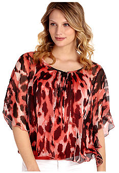 Karen Kane Melrose Printed Angel Sleeve Top