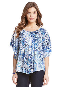 Karen Kane Indigo Spot Angel Top