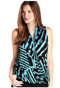 Karen Kane Cross Creek Sleeveless Wrap Top