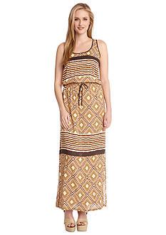 Karen Kane Sahara Pyramid Print Maxi Dress