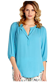 Karen Kane Cross Creek Split Neck Top