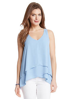 Karen Kane Multi Layer V-Neck Tank