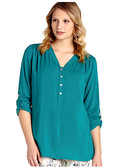 Karen Kane Cross Creek Roll Tab Sleeve Top