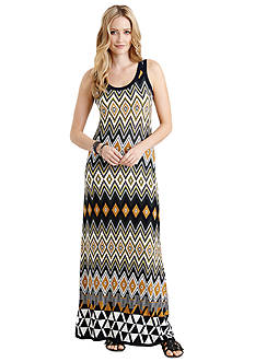Karen Kane Sahara Egyptian Diamond Print Maxi Dress