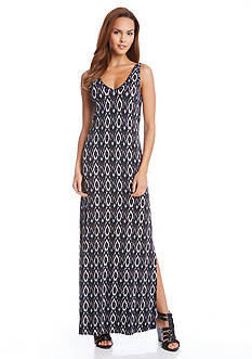 Karen Kane Diamond Printed Alana Maxi Dress