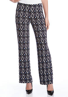 Karen Kane Diamond Printed Wide Leg Pants