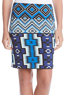 Karen Kane Printed Pencil Skirt