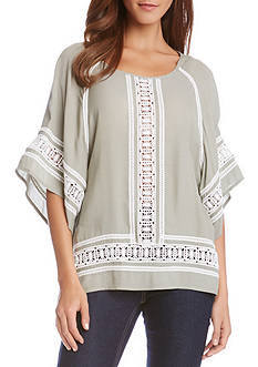 Karen Kane Modern Sleeve Lace Top