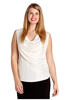 Karen Kane Plus Size Drape Neck Top