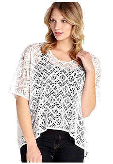 Karen Kane Cross Creek Crochet Top with Tank