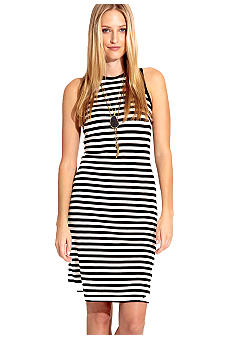 Karen Kane Melrose Striped Exposed Zipper Dress