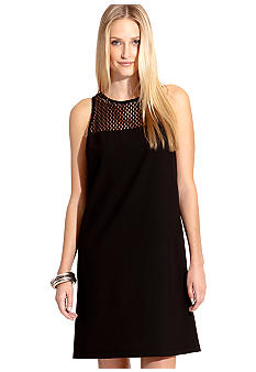 Karen Kane Melrose Chateau Mesh Yoke Shift Dress