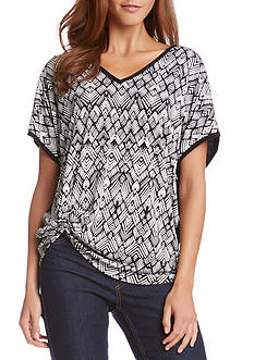 Karen Kane Extended Sleeve Pick-Up Top