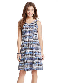 Karen Kane Printed Fit and Flare Dress