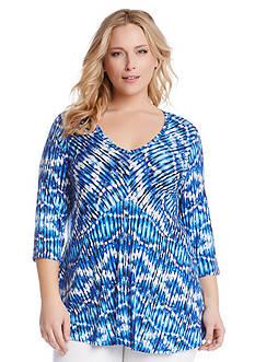 Karen Kane Plus Size Batik Printed Top