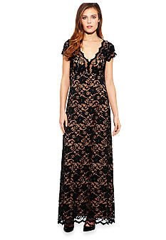 Karen Kane Electric Tide Juliet Lace Maxi Dress
