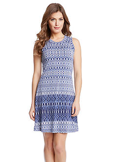 Karen Kane Indigo Ikat Tank Dress