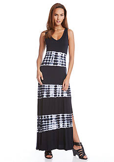 Karen Kane Tie-Dye Stripe Maxi Dress