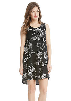 Karen Kane Floral Sleeveless Maggie Trapeze Dress