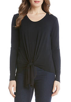 Karen Kane Long Sleeve Tie-Front Top