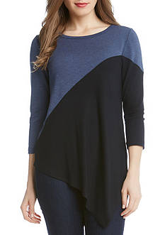 Karen Kane Colorblock Angle Top