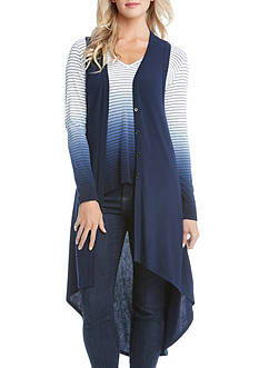 Karen Kane High Low Sleeveless Duster