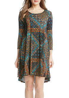 Karen Kane Tile Mosaic Maggie Trapeze Dress