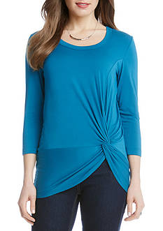 Karen Kane 3/4 Sleeve Side Twist Top
