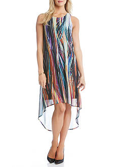 Karen Kane Modern Art High Low Dress
