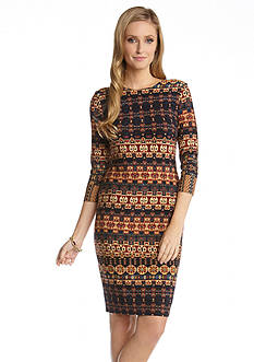 Karen Kane 3/4 Sleeve Santa Fe Dress
