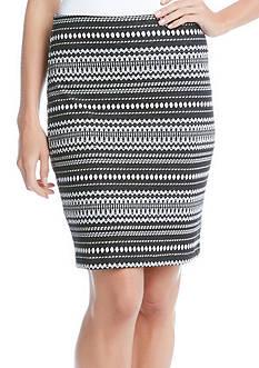 Karen Kane Knit Jacquard Skirt