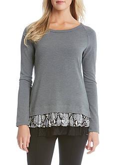 Karen Kane Snake Skin Print Inset Sweater