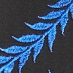 Karen Kane Clothing: Blue/Black Karen Kane Lace Flare Top