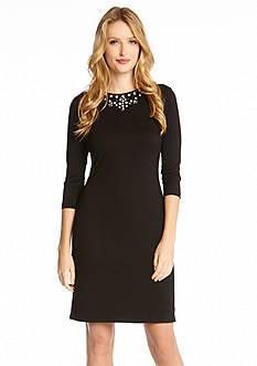 Karen Kane Jeweled Neckline Dress