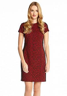 Karen Kane Red Mini Cheetah Dress