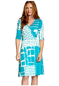 Karen Kane South Beach Wrap Top Dress