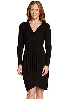 Karen Kane South Beach Pleated Wrap Top Dress