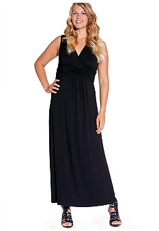 Karen Kane Plus Size Solid Maxi Dress