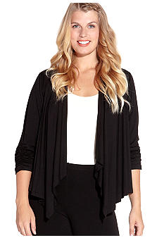 Karen Kane Plus Size Shirred Sleeve Jacket
