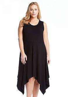Karen Kane Plus Size Jamie Angled Hem Dress