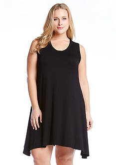 Karen Kane Plus Size Uneven Hem Tank Dress