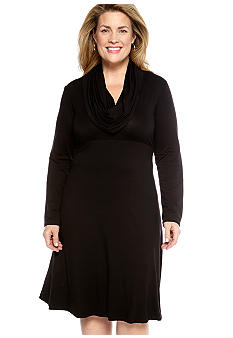 Karen Kane Plus Size Cowl Neck Jersey Dress