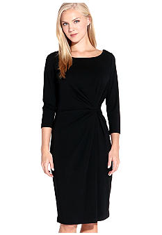 Karen Kane Indigo Bay Three Quarter Sleeve Shirred Dress