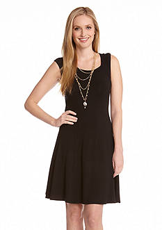 Karen Kane Las Palmas Extended Sleeve Panel Dress