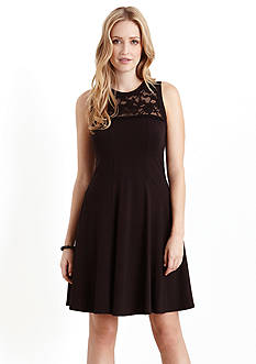 Karen Kane Las Palmas Lace Yoke Dress