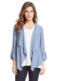 Karen Kane Roll Sleeve Drape Jacket