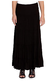 Karen Kane Indigo Bay Crushed Tiered Maxi Skirt