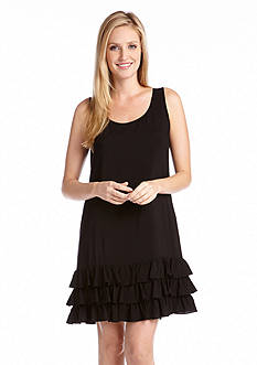 Karen Kane South Pacific Tiered Ruffle Tank Dress