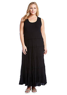 Karen Kane Plus Size Tiered Maxi Dress