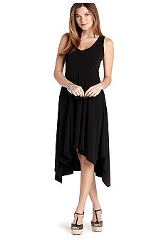 Karen Kane Cross Creek Asymmetrical V-Neck Dress